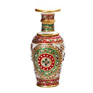 Handpainted Marble Vase with Floral Design -MAR15352
