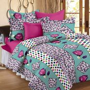Storyathome 100% Cotton Double Bedsheet With 2 Pillow Cover-MG1464