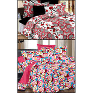 Set of 2 Double Bedsheet with 4 Pillow Covers-MO-112_123