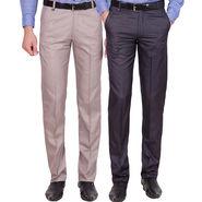 Tiger Grid Pack of 2 Cotton Formal Trouser For Men_Md035