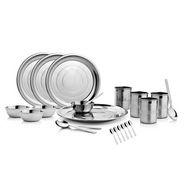 Mosaic 22 Pcs Dinner Set - Silver