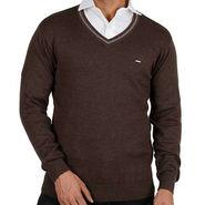 Mufti V Neck Men Sweater_Mufti03 - Brown
