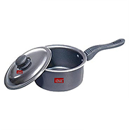 Ok Non-Stick Sauce Pan with Lid-SP2 - Black