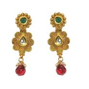 Pourni Exclusive Designer Polki & Color Stone Earring_PRER37
