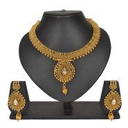 Pourni Stylish Necklace Set_Prnk154 - Golden