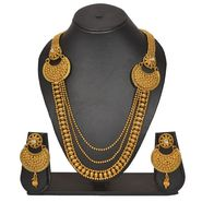 Pourni Stylish Necklace Set_Prnk160 - Golden