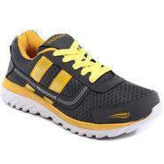 Provogue Grey & Yellow Sports Shoes -Pv1064