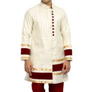 Runako Silk Full Sleeves Kurta Pyjama_RK4095 - Off White