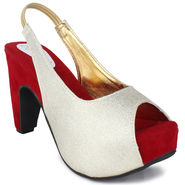 Do Bhai Faux Leather Heels Rambo-Red
