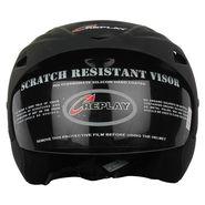Replay Essex Wave Plain Open Face Helmet with Smoke Visor (Matt Black)