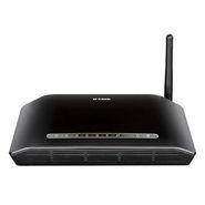 D-Link DSL-2730U Wireless N150 ADSL 2+ 4 Port Router - Black