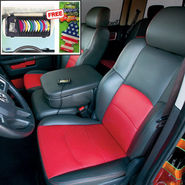Samsun Car Seat Cover for Chevrolet Beat - Red & Black