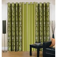Set Of 3 IWS Designer Window Curtain -Multicolor - 12465173