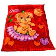 Mink Baby Blanket - Red