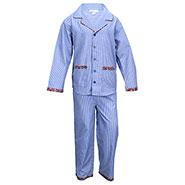 ShopperTree Striped Night Wear for Boy - Blue