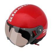 Steelbird SB 27 Style Open Face Helmet (Red, L)