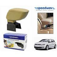 Speedwav Car Armrest Console Beige Color- Volkswagen Polo