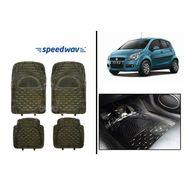 Speedwav Transparent Black Car Floor / Foot Mats - Maruti Ritz