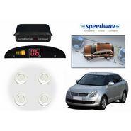 Speedwav Reverse Car Parking Sensor LED Display WHITE -Maruti Swift Dzire