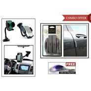 i-pop Grey Cushion Door Guard, Car Mobile Holder + Free Keychain