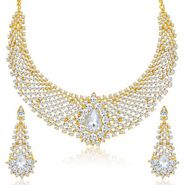Sukkhi Incredible & Delightly Gold Plated Necklace Set - Golden - 2147NADV2150
