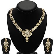 Sukkhi Stunning Gold Plated Necklace Set - Golden - 2167NADL1400