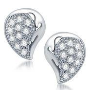 Sukkhi Glamorous Rhodium Plated Earrings - White - 203EARSDPVTS350