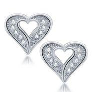 Sukkhi Exquisite Rhodium Plated Earrings - White - 212EARSDPVTS350