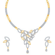 Sukkhi Classy Gold and Rhodium Plated CZ Necklace Set