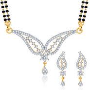 Sukkhi Gold Finished Mangalsutra Set - White & Golden - 145M2050