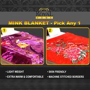 Super Soft Set of 2 Mink Blankets