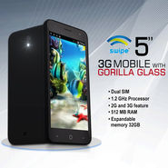Swipe 5 inch 3G Mobile with Gorilla Glass