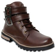 Faux Leather Tan Boots -T23
