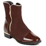 Leather Brown Boots For Womens -tb6