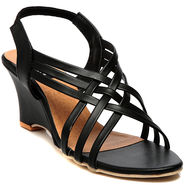 Synthetic Leather Black Gladiators -579Blk03