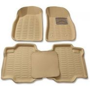 3D Foot Mats for Tata Manza Black Color-TGS-3D Black 128