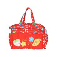 Tumble Red Mango Embroidery Baby Diaper Bag