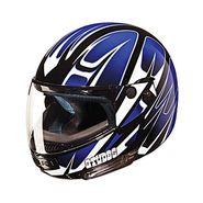Studds - Full Face Helmet - Ninja Decor FlipUp (D4 Black N1) [Extra Large - 60 cms]