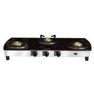 Sunblaze Three Burner- CORAL CURVE - Marble red Cooktop LE-S316