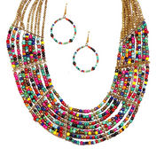 Urthn Gorgeous Design Necklace Set - Multicolour - 1103322