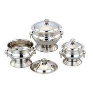 Set of 3pcs Klassic Vimal Cello Ring Dish - Silver