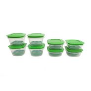 Cutting EDGE Veggie Fresh Refrigerator Storage Container Combo Plus Set of 8 Green