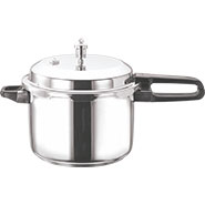 Vinod 2 Ltr Induction Friendly SS Sandwich Bottom Pressure Cooker With Lid - Silver