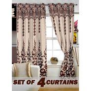 Set of 4 Printed Window curtain-5 feet-WBR_4_4024