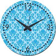 meSleep Blue Self Print  Wall Clock With Glass Top-WCGL-02-27