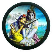 meSleep Radha Krishna Wall Clock (With Glass)-WCNW-02-11