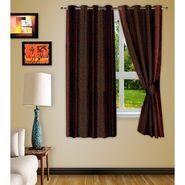 Story @ Home Brown 2 pc Window curtain-5 feet-WNR2071