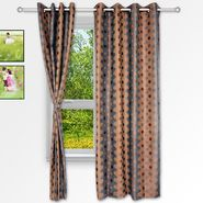 Story @ Home Grey 2 pc Window curtain-5 feet-WNR2075