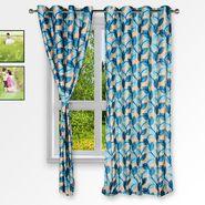 Story @ Home Blue 2 pc Window curtain-5 feet-WNR3063