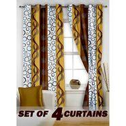 Set of 4 Printed Window curtain-5 feet-WNR_2_2008